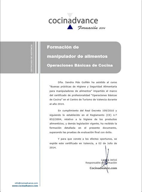 inventos de sandris titulo de operaciones basicas de cocina  certificado de manipulador de