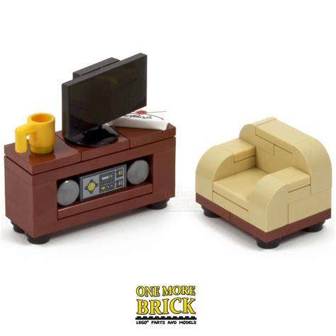 lego tv television cabinet sofa chair and hifi sound system new ebay