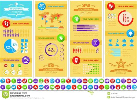 Travel Infographic Template Stock Vector Image 35397680 Travel Infographic Template