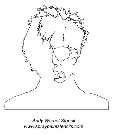 free coloring pages of andy warhol