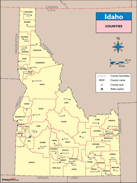 idaho county map idaho counties images search