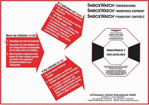 Aufkleber Von Holzkiste Entfernen by Shockwatch 2 Sto 223 Indikator Bis 14 Tonnen G Wert 10