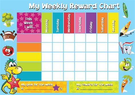 printable reward chart template activity shelter