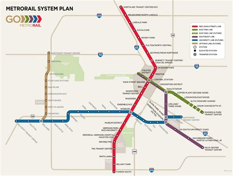 metro light rail houston houston metro rail map