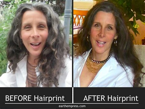 before after gray hair naturally replenished color for happy healthy hair earth