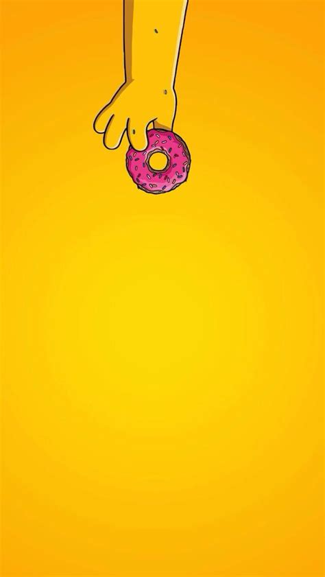 wallpaper iphone 5 simpsons simple donut homer simpsons iphone wallpaper home screen