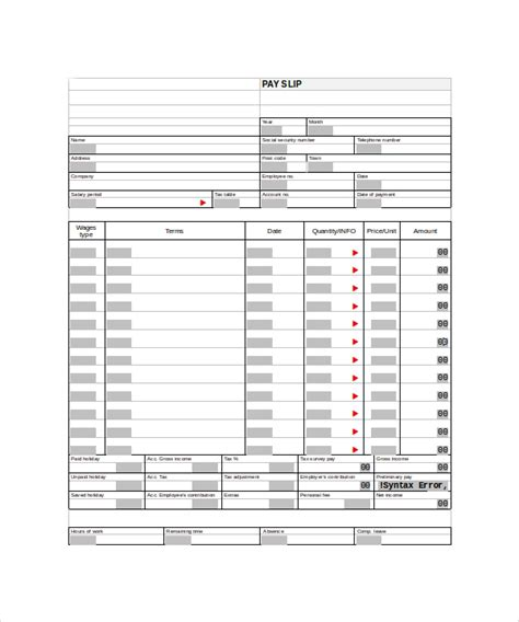 25 Sle Editable Pay Stub Templates To Download Sle Templates Pay Stub Template Word