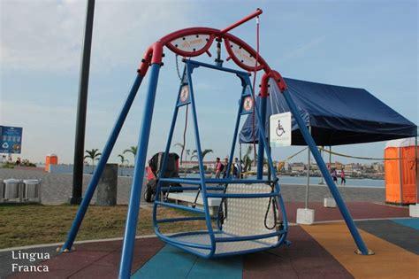handicapped swing wheelchair swing universal design pinterest