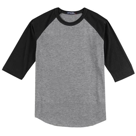 Raglan Black sport tek t200 colorblock raglan jersey grey