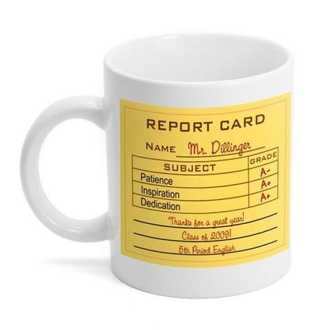 Teacher Report Card Coffee Mug