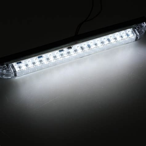 led light bar draw white 18led 8 quot utility light bar led marker light