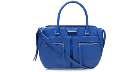 nine west just zip it satchel tote bag in blue lyst
