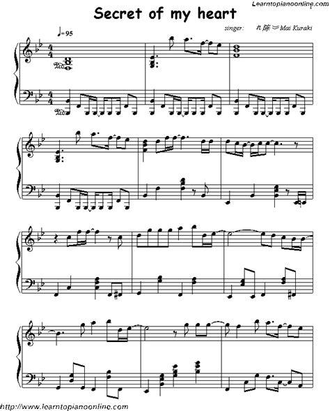 secret   heart  kuraki  piano sheet  learn   play piano