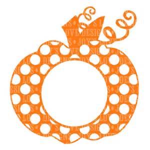 monogram pumpkin templates items similar to monogram polka dot pumpkin svg and dxf