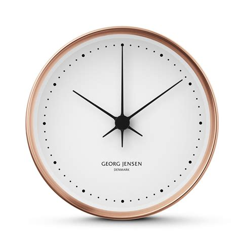 wall clock georg koppel wall clock copper 15cm panik design