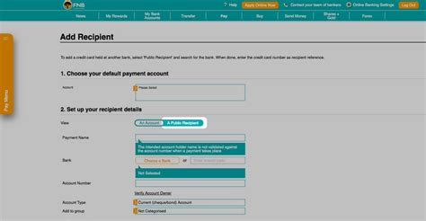 How to add a Public Recipient   How To Demos   FNB