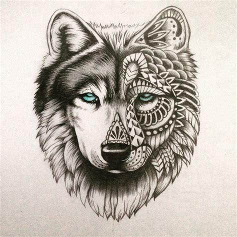 half wolf half human tattoo