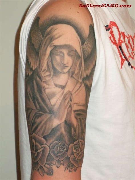 tattoo angel praying 26 praying angel tattoos on half sleeve