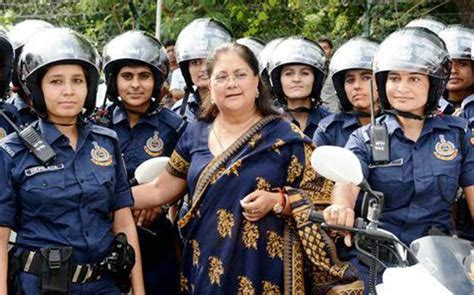 Fashion On Patrol In India by In Blue Vasundhara Raje Flags All Patrol