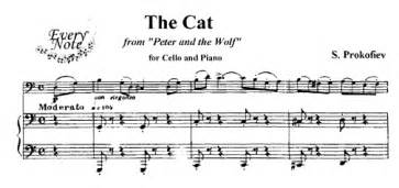 Prokofiev the cat from peter and the wolf sheet music