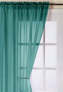 Voile Drapes Curtains Trent Teal Voile Panel Woodyatt Curtains Stock