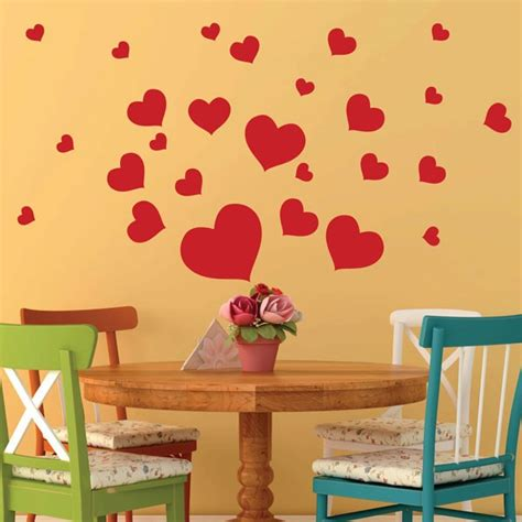 heart wall stickers for bedrooms heart wall stickers love wall decor