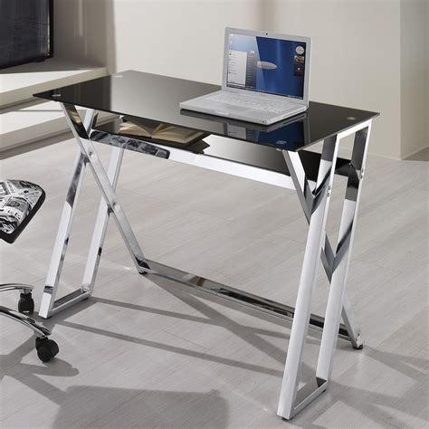 porta pc scrivania scrivania porta pc in metallo e vetro 100 cm brody