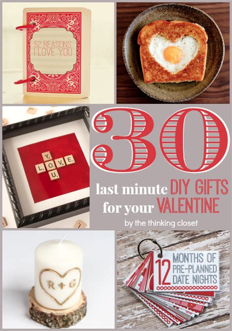 Creative Handmade Valentines Gifts For Him - 30 last minute diy gifts for your the thinking