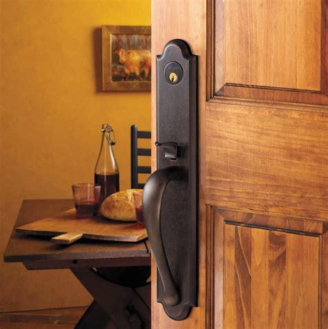 Baldwin Door Handleset - boulder handleset 6402 402 lent