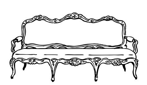 black and white settee sofa clipart illustration free stock photo public domain