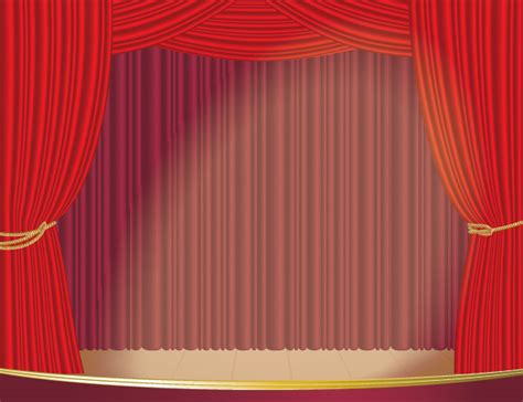 Silk Curtains And Drapes Stage Curtain Vector Free Vector 4vector