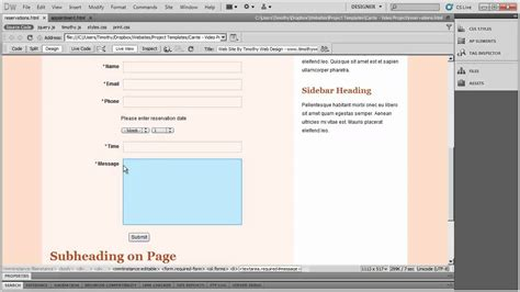 dreamweaver tutorial introduction 42 introduction to dreamweaver tutorial cs5 youtube