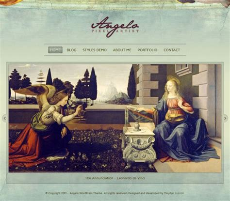 themes wordpress artist angelo art wordpress theme premium themes css showcase