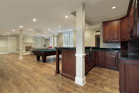 basement wood floor basement with billiards and wood floor interior design ideas