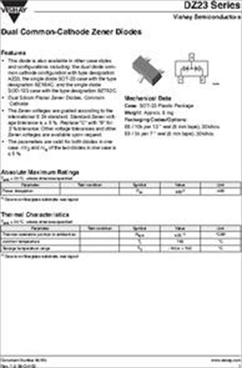 dual zener diode common cathode zener diode b12 28 images bzx585 b12 datasheet pdf nxp semiconductors in4746a 187734 pdf