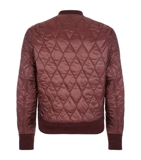 Bomber Jacket Quilted by Burberry Grandy Quilted Bomber Jacket In Purple For Lyst