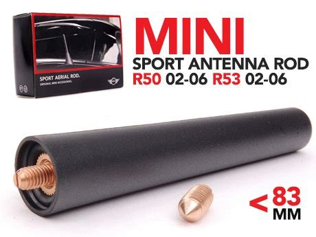 ecs news mini r50 r53 sport antenna rod