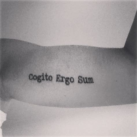 cogito ergo sum tattoo 30 quote ideas quote tattoos