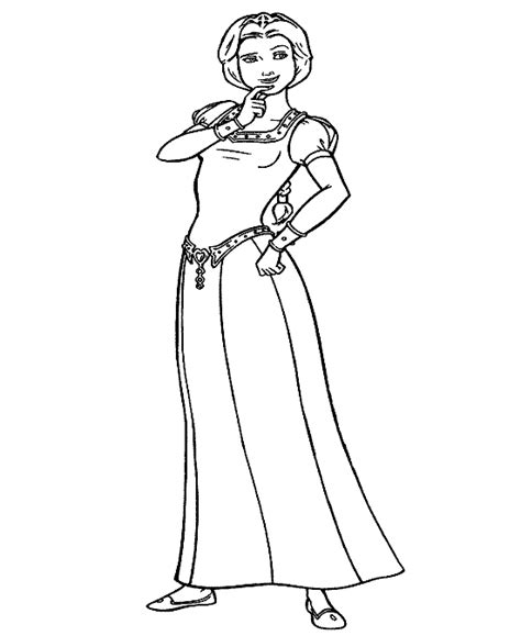 coloring pages of princess fiona 4 free princess fiona shrek coloring pages