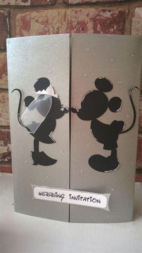 mickey minnie mouse wedding invitations minnie mickey mouse wedding card invitation by