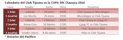 Calendario Xolos 2016 Calendario Xolos Clausura 2016 Copa Mx Agp Deportes