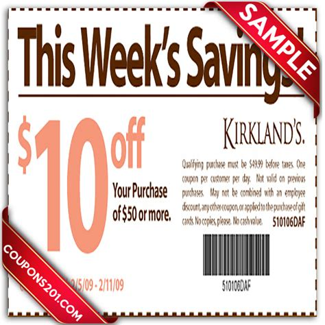 kirkland home decor coupons kirklands printable coupons