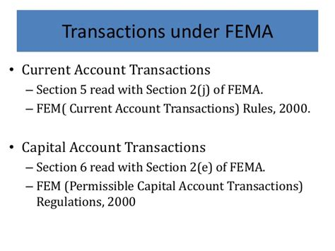 Section 3 Of Fema by Indian Foreign Exchange Management Act Fema And Transfer