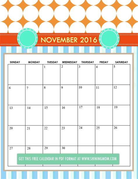 printable calendar 2016 kawaii free printable cute 2016 calendars by shining mom