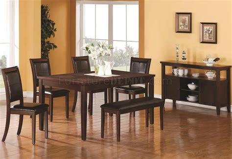 warm medium brown finish modern dining table woptional items