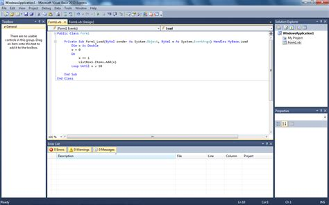 pattern xlsolid visual basic algoritma tutorial visual basic 2010 do loop