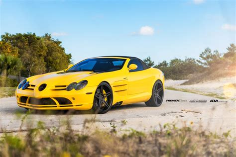 yellow mercedes slr convertible by renntech on adv 1