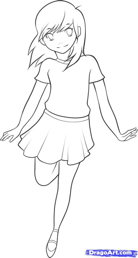 how to draw a simple anime girl step by step anime anime step by step drawing body how to draw an anime kid