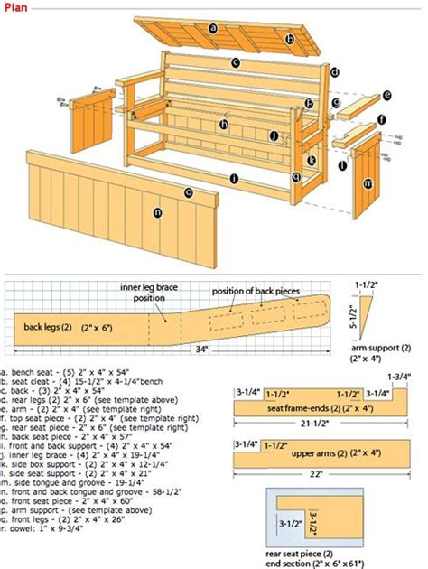 storage bench plans free double duty deck bench plan deck patio pinterest