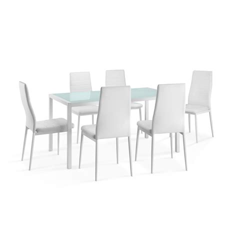 table et 6 chaises pas cher delamaison ensemble table 224 manger rectangulaire air m 233 tal